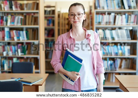 Student with copybooks