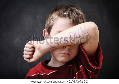 Student with poor self esteem - stock photo