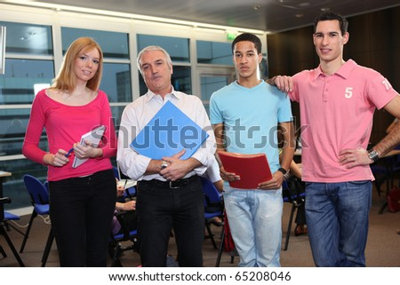 Students and teacher