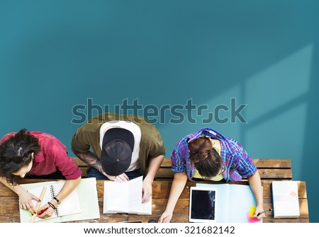 Students Brainstorming Team Ideas Meeting Concept - stock photo