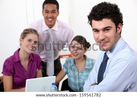 Students in training - stock photo