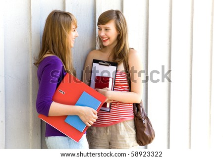Students with books - stock photo