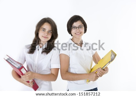 Students with Heavy Books