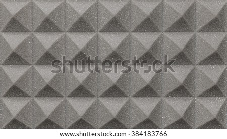 Studio acoustic foam - stock photo