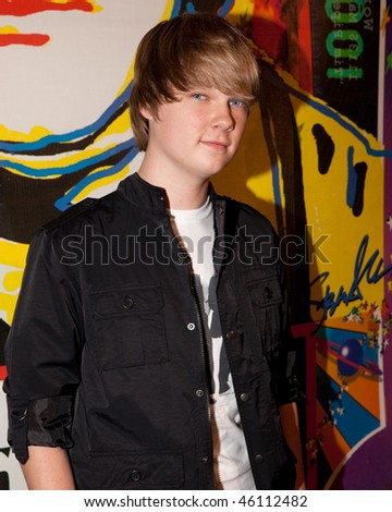STUDIO CITY, CA - JAN 28: Austin Anderson attends John Lennon last concert Just Imagine starring Tim Piper as John Lennon on January 28, 2009 in Studio City, California. - stock photo