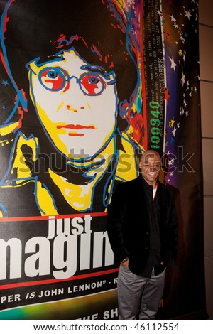 STUDIO CITY, CA - JAN 28: J.R. Martinez attends John Lennon last concert Just Imagine starring Tim Piper as John Lennon on January 28, 2009 in Studio City, California. - stock photo
