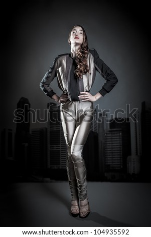 studio fashion shoot/fashion 10/ - stock photo