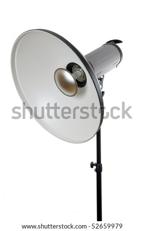 Studio flash isolated on white - stock photo