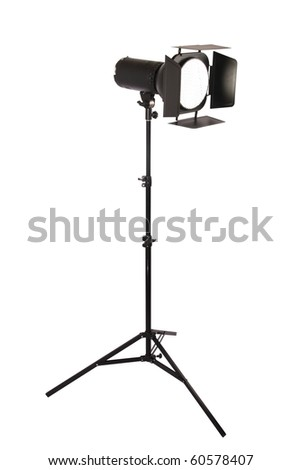 studio flash isolated on white,hard light