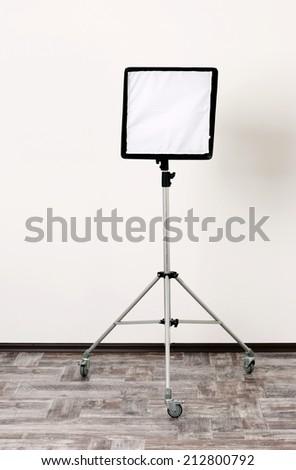 Studio flash with soft-box - stock photo