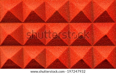 studio isolation sponge  - stock photo