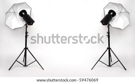 Studio lighting. - stock photo
