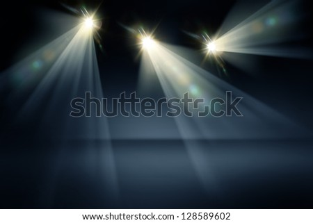 Studio Lights Background - stock photo