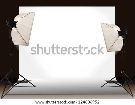 Studio lights setting - stock photo