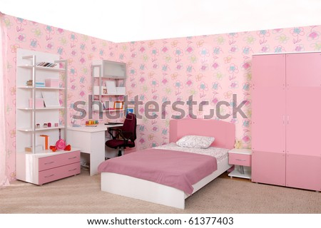 Studio photographing of an interior of a children's room