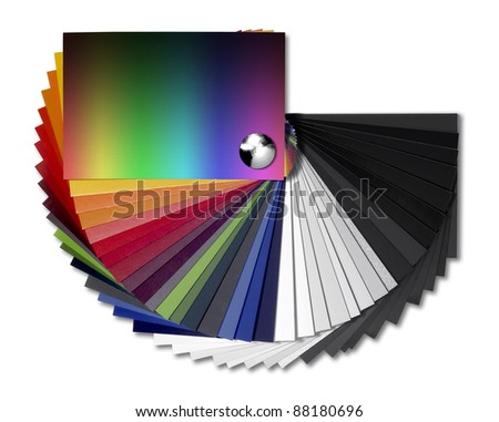Studio Photography Spread Color Chart Isolated Stock Photo 88180696