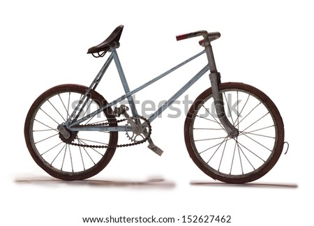 Studio picture of an old children bike - stock photo