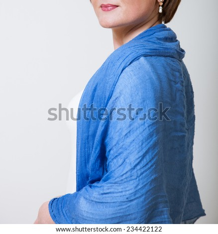 Studio portrait of an unrecognizable young woman on neutral background