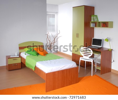 Studio shoot of children room - stock photo