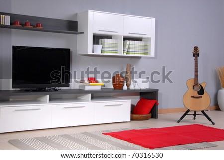 Studio shoot of living room - stock photo