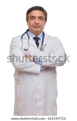 Studio shooting of a doctor