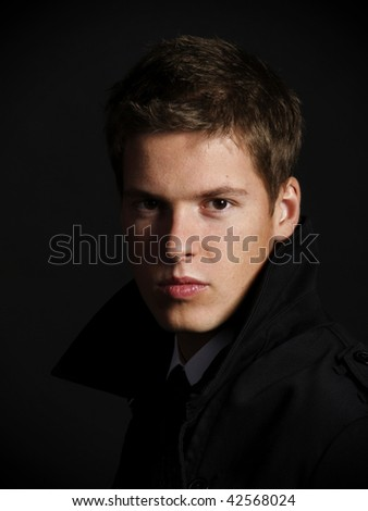 Studio shot of a handsome young male model