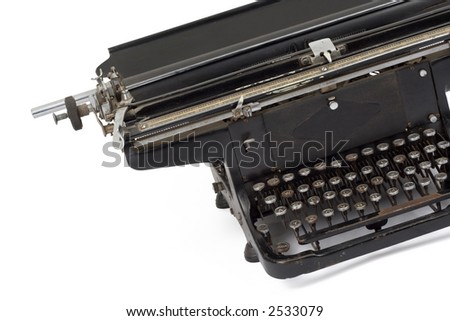 Studio shot of a old typewriter
