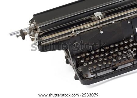 Studio shot of a old typewriter - stock photo
