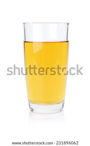 Studio shot of cold juice isolated on a white background