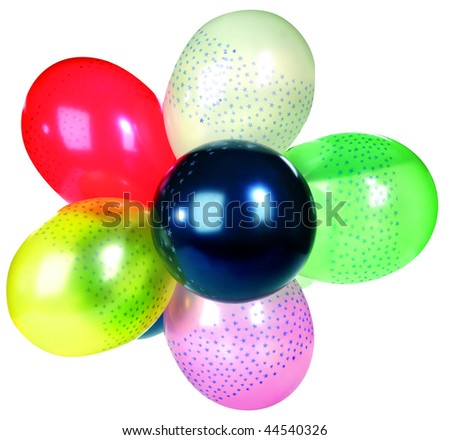 Studio shot of colorful party balloon isolated on white background