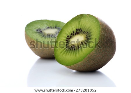Studio shot of kiwi on white background - stock photo