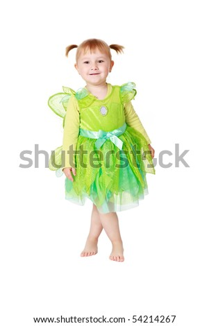 studio shot of little fairy - stock photo