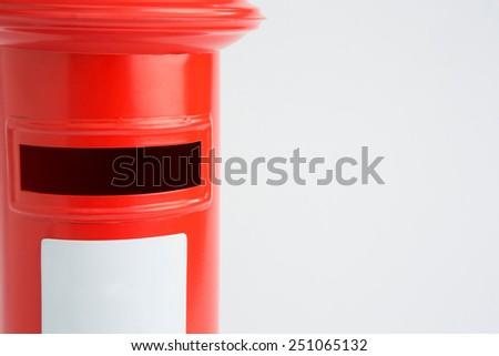 Studio Shot Of Red Post Box - stock photo