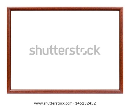 Studio shot of slim wooden picture frame. - stock photo