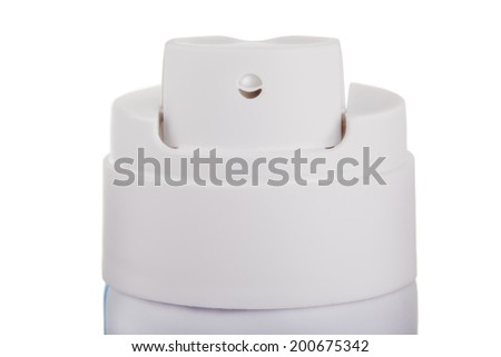 Studio shot of spray can isolated - stock photo