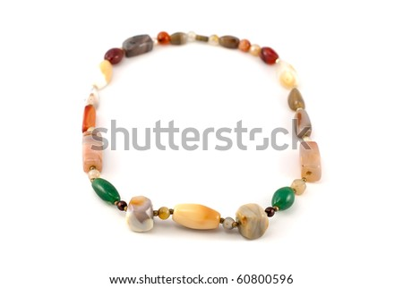 Studio shot of the necklace isolated on white - stock photo