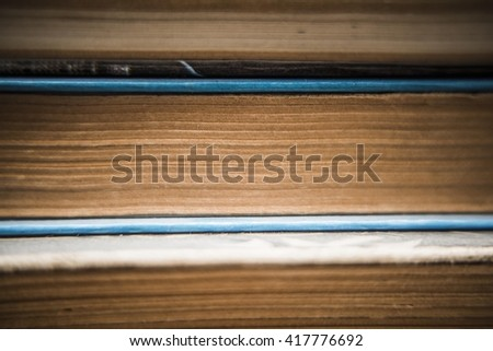 Study background. hard cover books, close up - stock photo