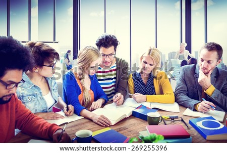 Study Group Discussion University Concept - stock photo