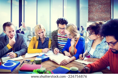 Study Group Learning University Communication Concept - stock photo