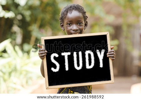 Study Hard - Education Symbol by African Children. Education Symbol in the streets of Bamako, Mali. - stock photo