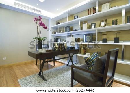 study room - stock photo