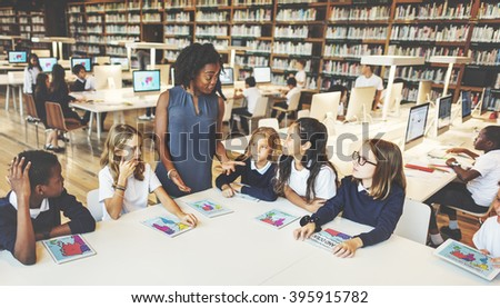 Study Studying Learn Learning Classroom Concept - stock photo