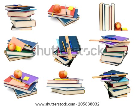 Studying in school, at first class day concept - stock photo