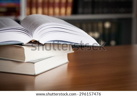 Studying, literature, page. - stock photo