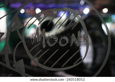 Studying physics on board - stock photo