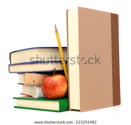 studying school books. back to school  - stock photo