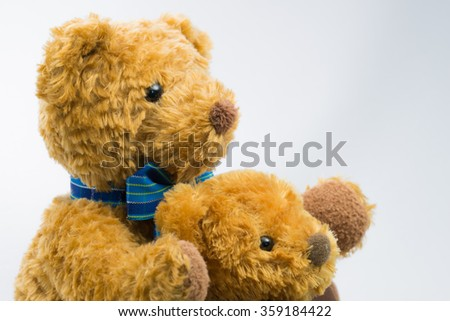 Stuffed toy of parent and child