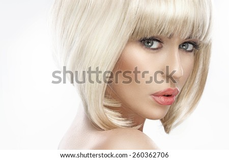 Stunning blonde beauty - stock photo
