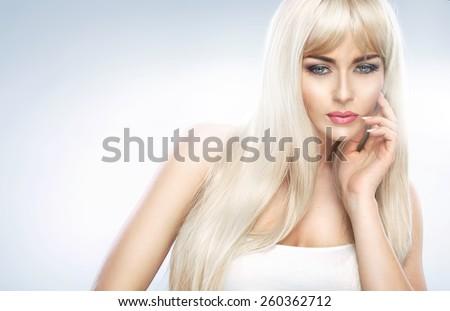 Stunning blonde beauty - stock photo