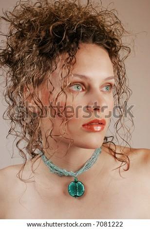 stunning fashion woman - stock photo